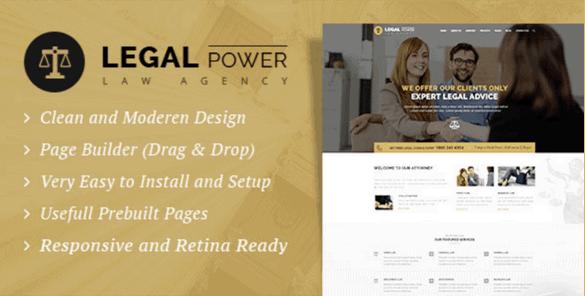 LegalPower—Lawyer Attorney WordPress Theme