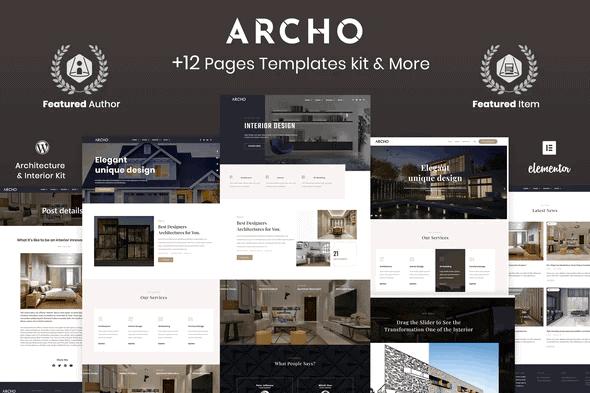Archo - Architecture & Interior kit