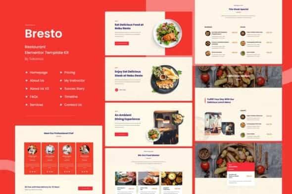Bresto | Restaurant Elementor Template Kit