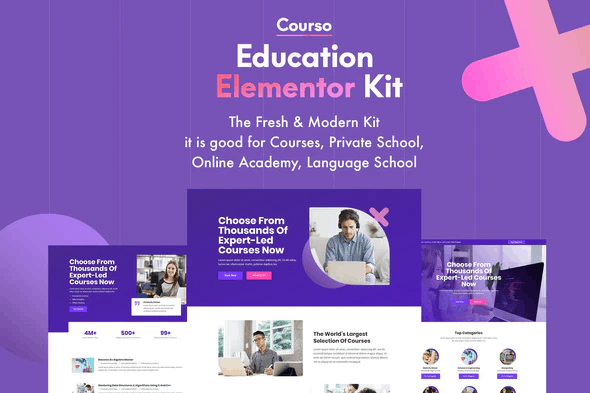 Courso - Online University & Courses Elementor Template Kit