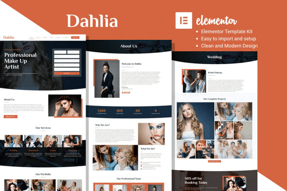 Dahlia - Beauty Business Elementor Template Kit