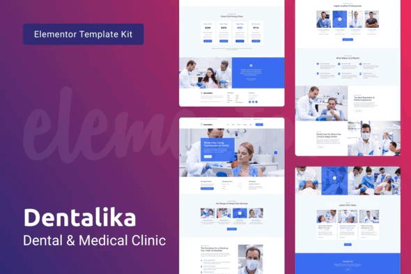 Dentalika — Dental Clinic & Medical Health Elementor Template Kit