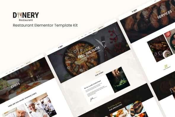 Dinery | Restaurant Elementor Template KitM