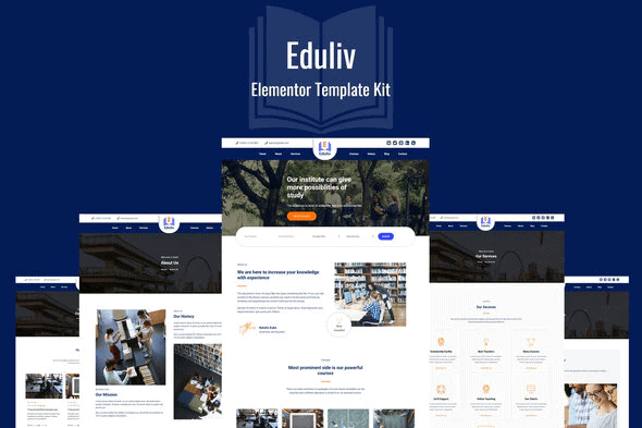 Eduliv - Education Elementor Template Kit
