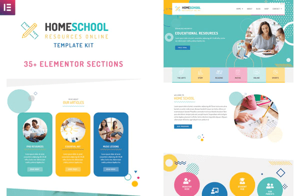 Home School - Elementor Template Kit