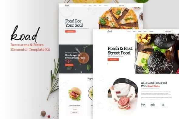Koad - Restaurant & Bistro Elementor Template Kits