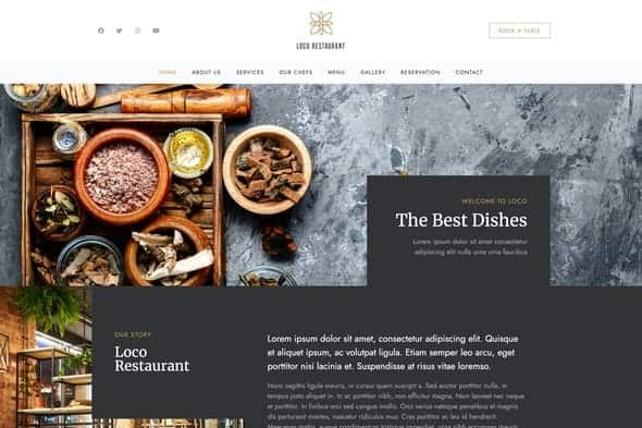 Loco Restaurant - Template Kit