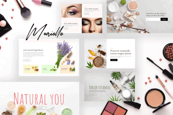 Marielle - Cosmetics and Beauty Shop Template Kits