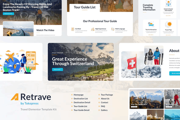 Retrave | Travel Elementor Template Kit