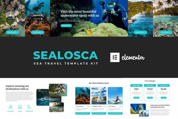 Sealosca - Sea Adventure Travel Template Kit