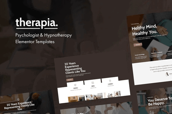 Therapia - Psychologist & Hypnotherapy Elementor Templates