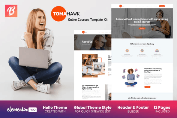 Tomahawk - Online Courses Elementor Template Kit