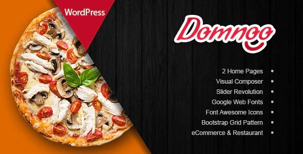 Domnoo - Pizza & Restaurant WordPress Theme