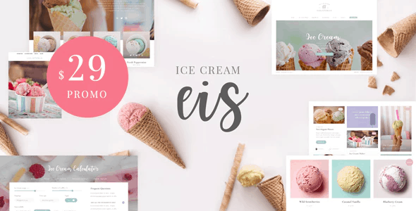 Eis - Ice Cream Shop WordPress Theme