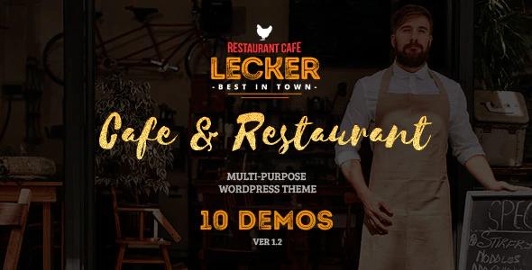 Lecker | Cafe & Restaurant WordPress Theme