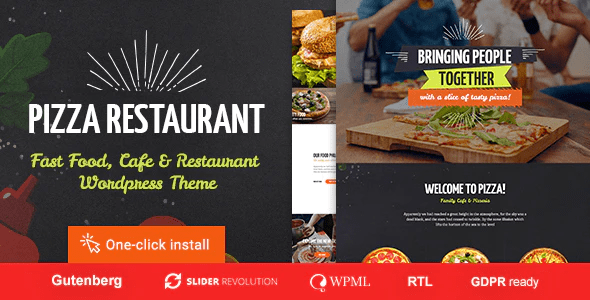 Pizza Restaurant - Fast Food & Cafe WordPress Theme