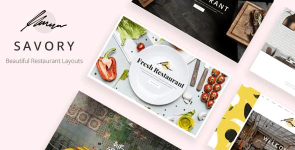 Savory - Restaurant Theme
